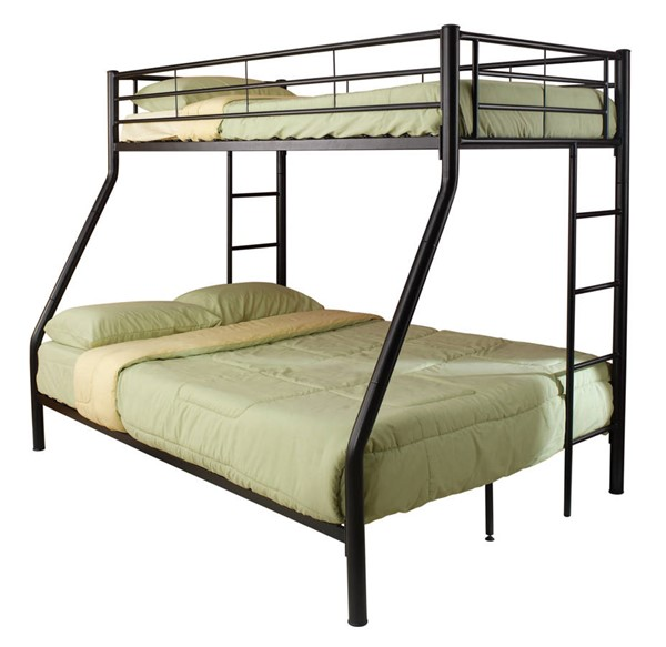 Coaster Furniture Hayward Black Metal Twin Over Full Bunk Bed CST-460062B