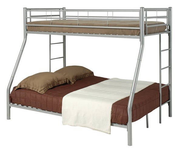 Coaster Furniture Hayward Silver Twin Over Full Bunk Bed CST-460062
