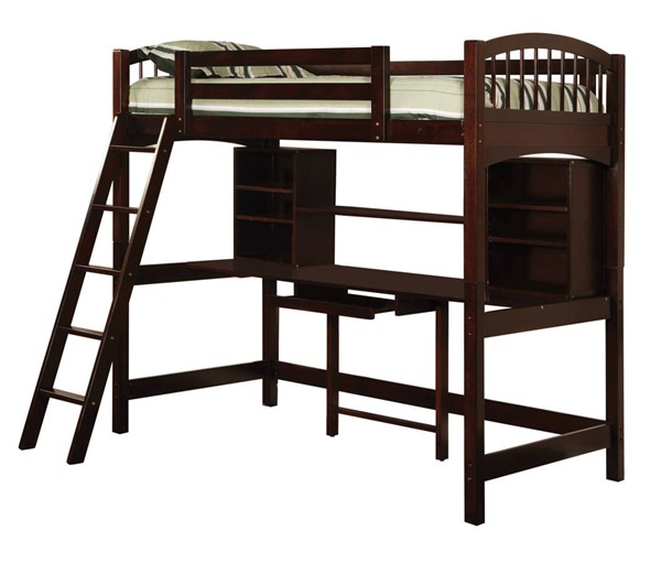 Coaster Furniture Perris Cappuccino Twin Workstation Loft CST-460063