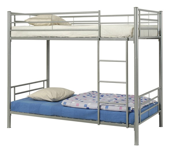 Coaster Furniture Hayward Silver Twin Over Twin Bunk Bed CST-460072