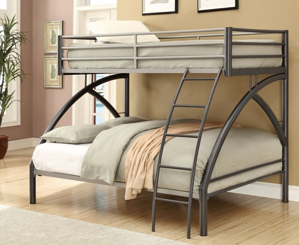 Casual Black Gunmetal Twin/Full Bunk Bed CST-460079