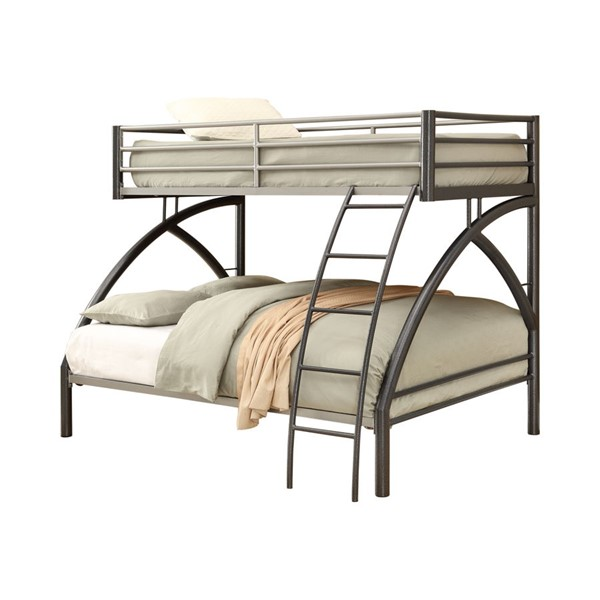 Coaster Furniture Stephan Gunmetal Twin Over Full Bunk Bed CST-460079