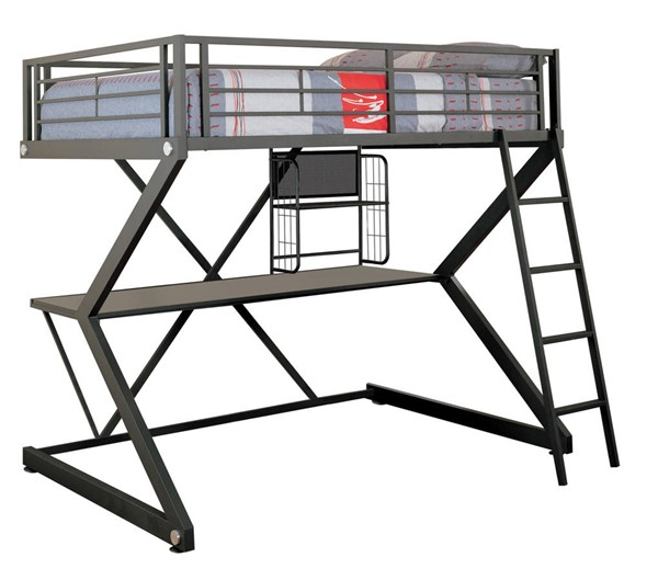 Coaster Furniture Parkview Black Full Workstation Loft Bed CST-460092