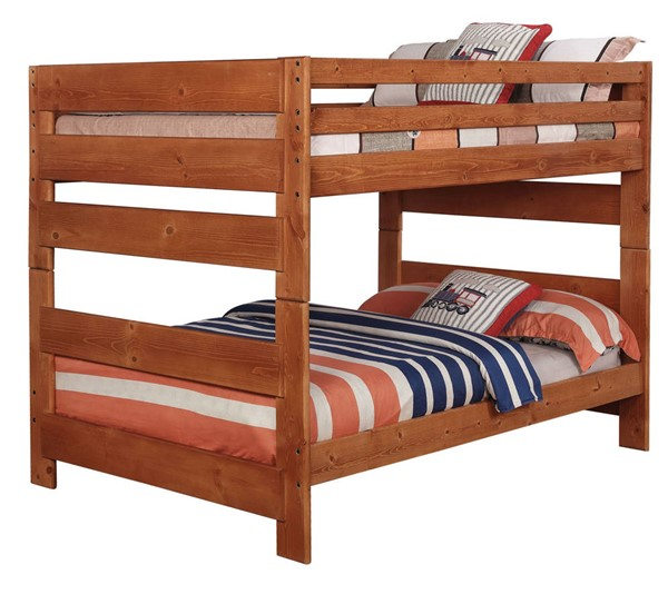 Coaster Furniture Wrangle Hill Amber Wash Full Over Full Bunk Bed CST-460096