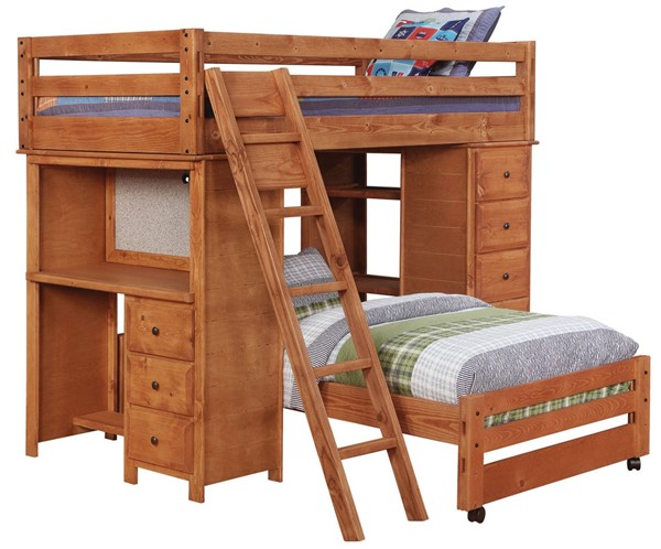 Coaster Furniture Wrangle Hill Amber Twin Over Twin Bunk Bed CST-460141