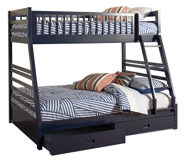 Coaster Furniture Ashton Navy Twin Over Full Bunk Bed CST-460181