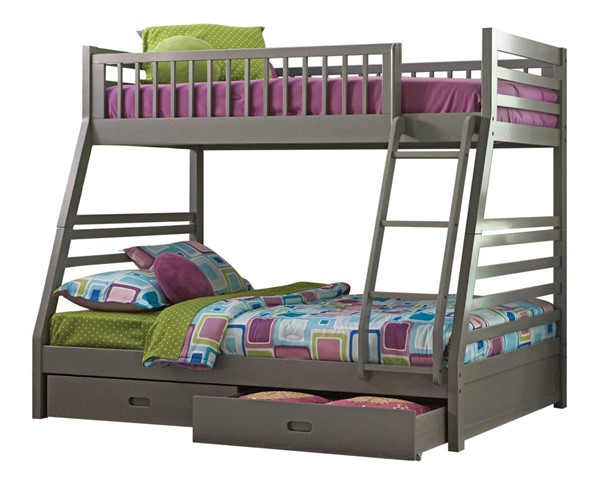 Coaster Furniture Ashton Grey Twin Over Full Bunk Bed CST-460182