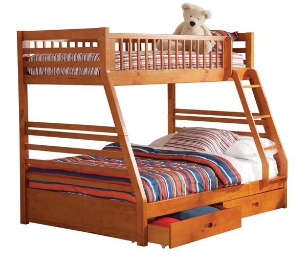 Coaster Furniture Ashton Honey Oak Twin Over Full Bunk Bed CST-460183