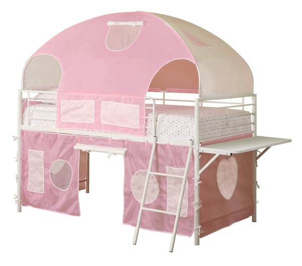 Coaster Furniture Sweetheart White Tent Bunk Bed CST-460202