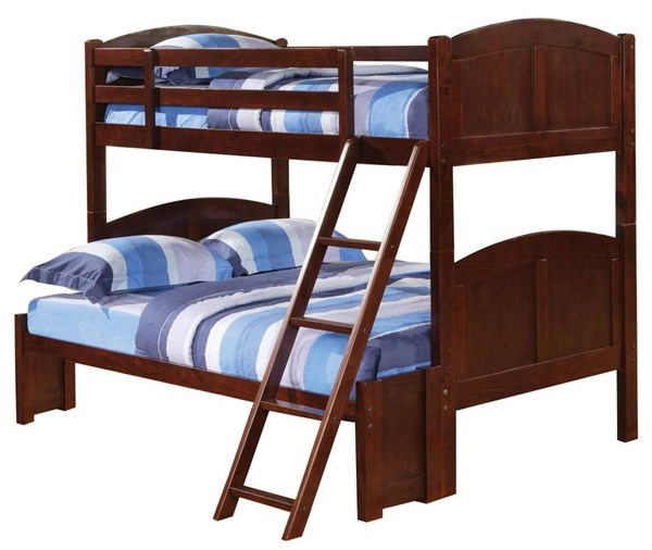 Parker Transitional Merlot Wood Twin/Full Bunk Bed CST-460212