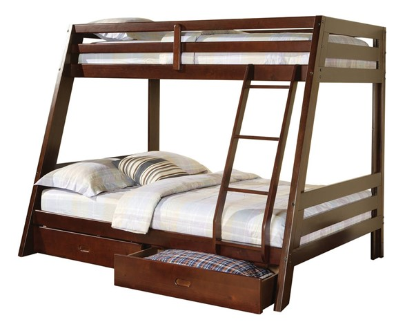 Coaster Furniture Hawkins Brown Twin Over Full Bunk Bed CST-460228