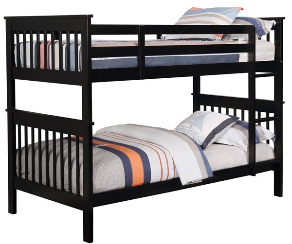 Coaster Furniture Chapman Black Twin Over Twin Bunk Bed CST-460234N