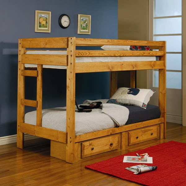 Coaster Furniture Wrangle Hill Amber Wash Twin Over Twin Bunk Bed CST-460243