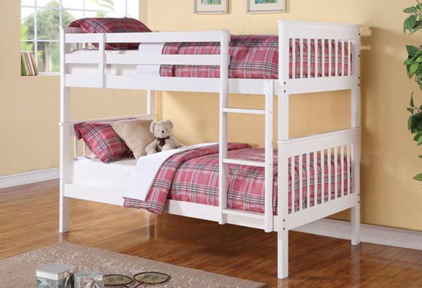 Coaster Furniture Chapman Wood Twin Over Twin Bunk Beds With Trundle CST-4602-TT-BNK-TRN-S-VAR