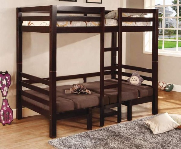 Coaster Furniture Joaquin Brown Twin Over Twin Convertible Loft Bed CST-460263
