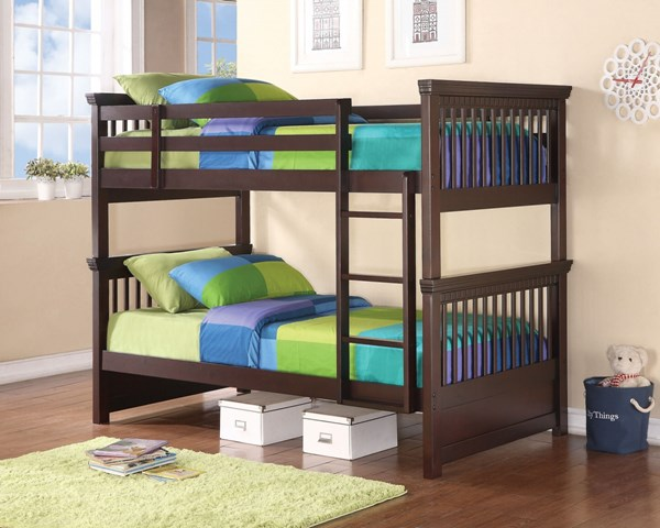 Oliver Casual Brown Pine Veneers And Solids Twin/Twin Bunk Bed CST-460266