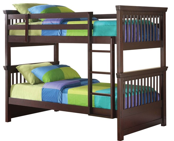 Coaster Furniture Miles Cappuccino Twin Over Twin Bunk Bed CST-460266