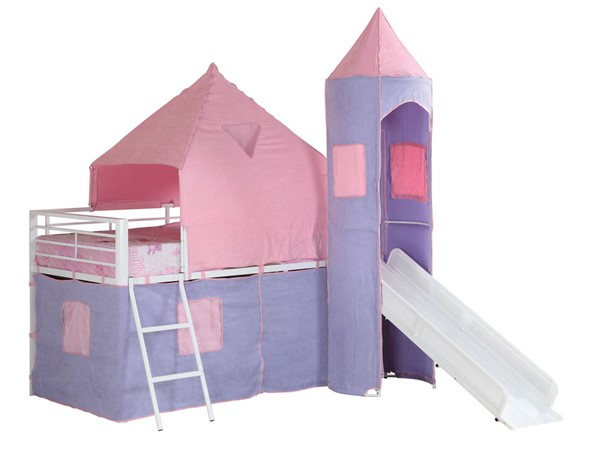 Coaster Furniture Princess Castle White Twin Loft Bed CST-460279