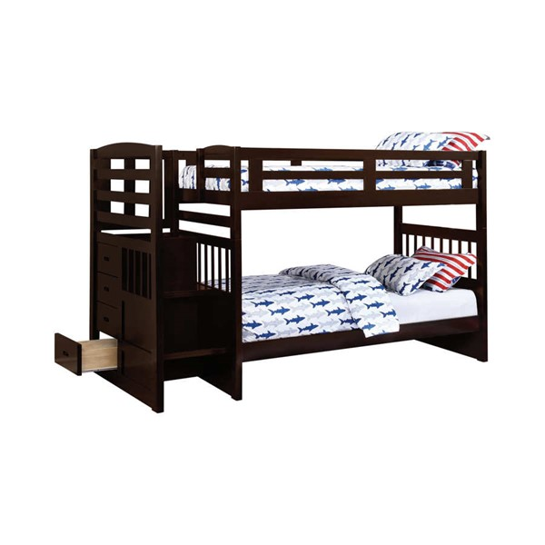 Coaster Furniture Dublin Twin Over Twin Trundle Bunk Bed CST-460362-400324