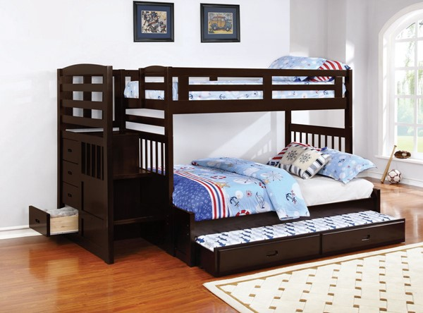 Coaster Furniture Dublin Twin Over Full Trundle Bunk Bed CST-460366-400324