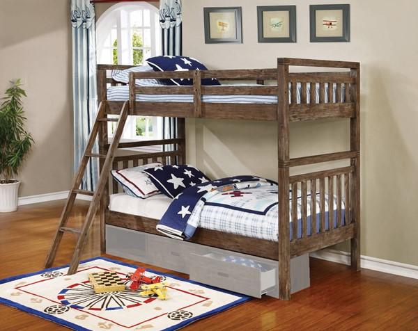 Coaster Furniture Malcolm Twin Over Twin Bunk Bed CST-460371