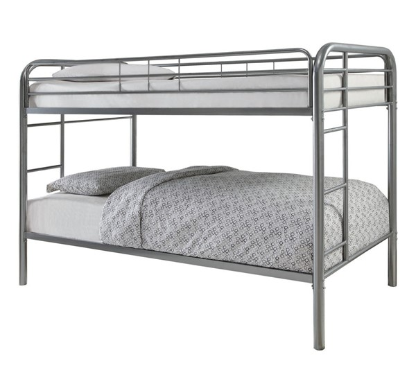 Coaster Furniture Morgan Silver Metal Twin Over Twin Bunk Bed CST-460377V