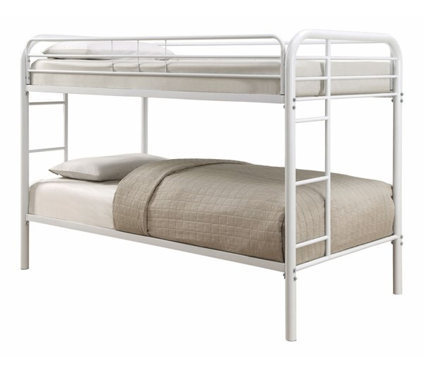 Coaster Furniture Morgan White Twin Over Twin Bunk Bed CST-460377W