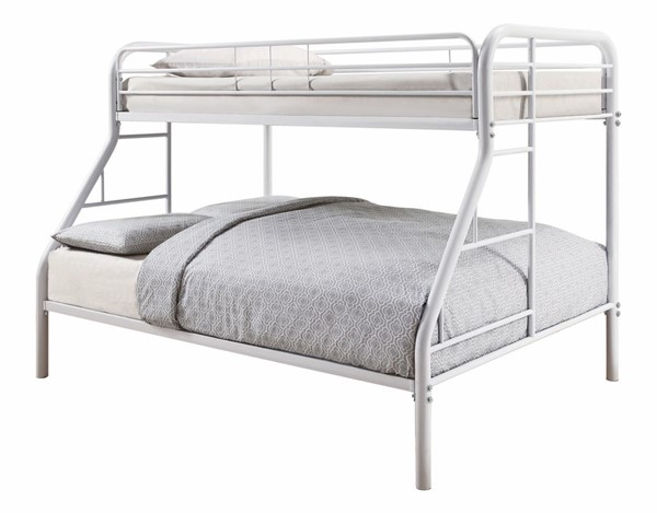 Coaster Furniture Morgan White Twin Over Full Bunk Bed CST-460378W