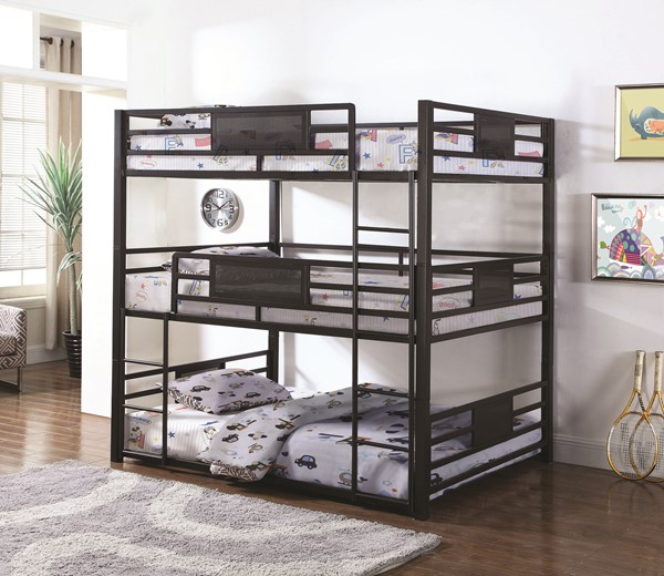 Coaster Furniture Rogen Full Triple Bunk Bed The Classy Home