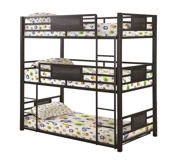 Coaster Furniture Rogen Twin Triple Bunk Bed CST-460394T