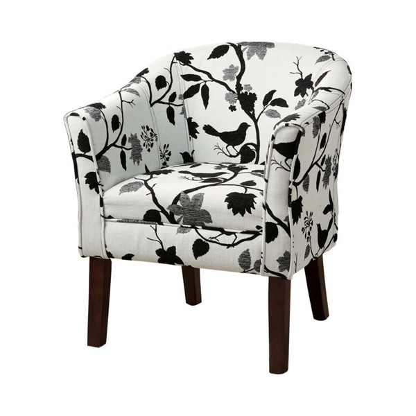 Coaster Furniture Black White Fabric Accent Chair CST-460406