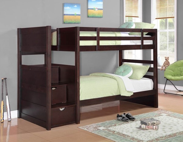 Coaster Furniture Elliott Cappuccino Twin Over Twin Bunk Bed CST-460441