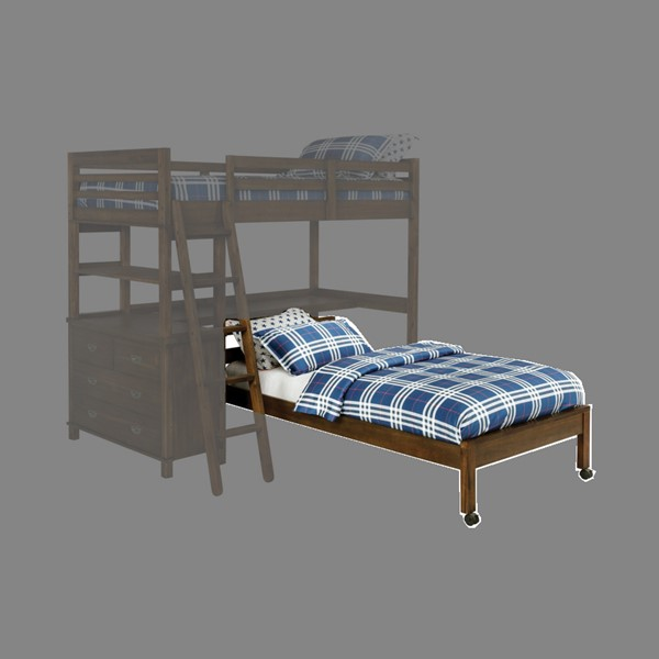 Coaster Furniture Bernhardt Brown Twin Bed With Casters CST-460576