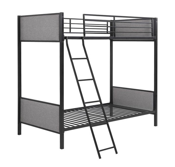 Coaster Furniture Capshaw Light Grey Twin Over Twin Bunk Bed CST-461104