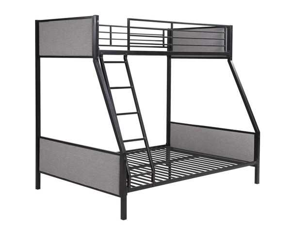 Coaster Furniture Capshaw Light Grey Twin Over Full Bunk Bed CST-461114