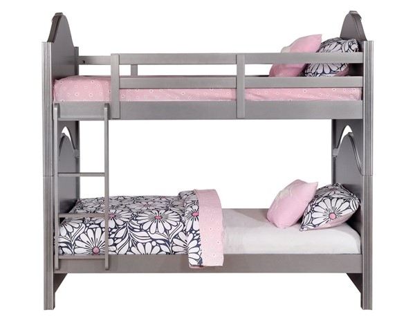 Coaster Furniture Valentine Pewter Twin Over Twin Bunk Bed CST-461131