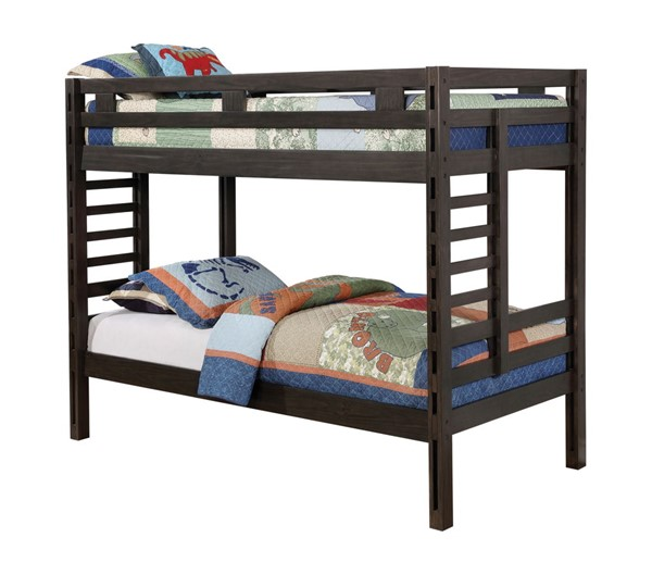 Coaster Furniture Hilshire Dark Grey Twin Over Twin Bunk Bed CST-461150