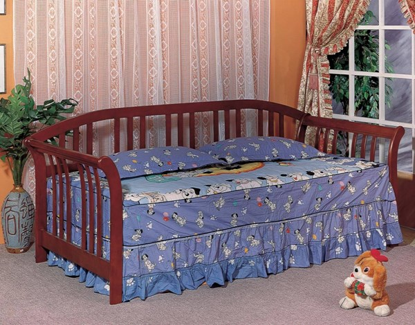 Traditional Merlot Wood Daybed w/Slat Back CST-4809