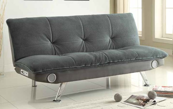 Transitional Faux Leather Fabric Sofa Bed CST-500046-47-VAR