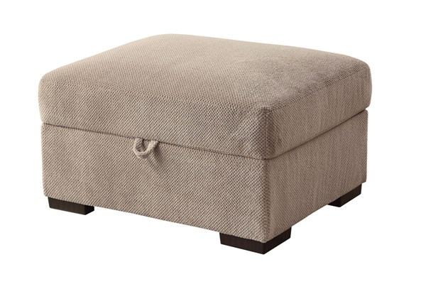 Olson Transitional Taupe Fabric Storage Ottoman CST-500085