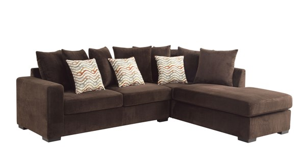 Coaster Furniture Olson Chocolate Fabric Sectional CST-500086