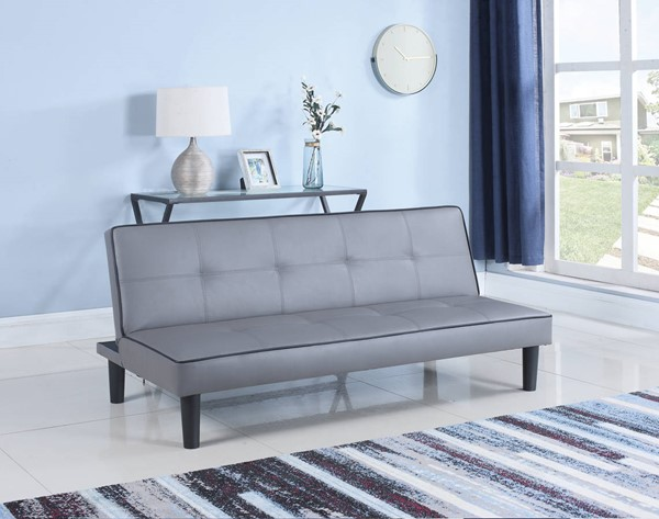 Coaster Furniture Dark Grey Leatherette Upholstered Sofa Bed CST-500415