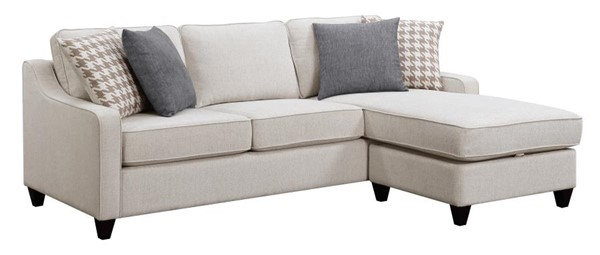 Coaster Furniture Montgomery Cream Sectional with Storage Ottoman CST-501170