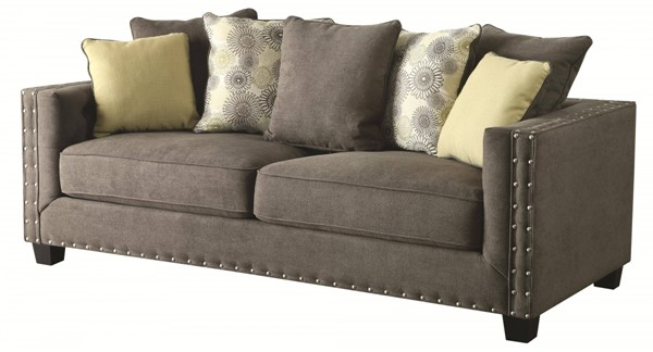 Kelvington Contemporary Charcole Fabric Sofa W/Tufted Back CST-501421