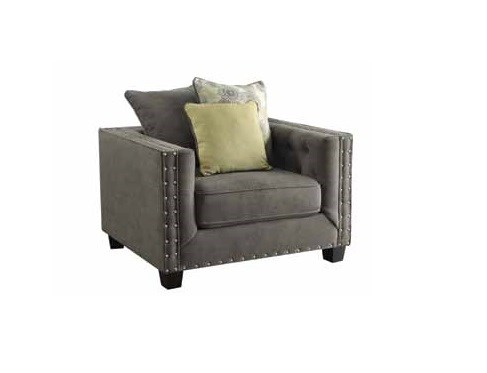 Kelvington Contemporary Charcole Fabric Chair W/Tufted Back CST-501423