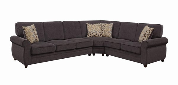 Coaster Furniture Kendrick Chocolate Sectional CST-501450