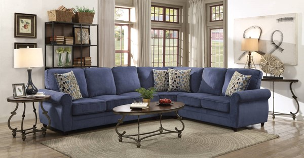 Coaster Furniture Kendrick Blue Sectional CST-501545