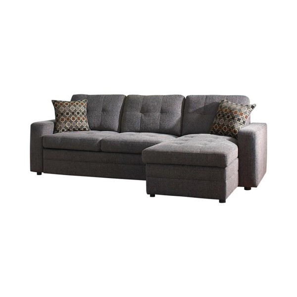 Coaster Furniture Charcoal Sectional With Pillows CST-501677