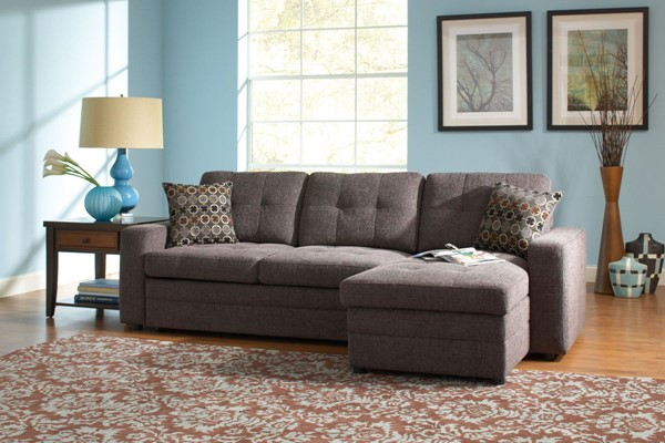 Gus Casual Charcoal Black Fabric Sectional CST-501677