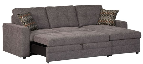 Coaster Furniture Gus Charcoal Sectional With Pillows CST-501677